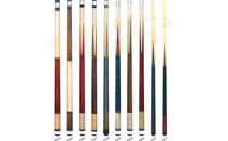 P3014-P3023 Deluxe Spliced Pool Cue Series