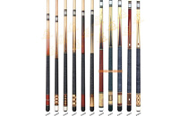 P3024-P3034 Deluxe Spliced Pool Cue Series