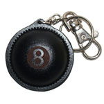 BN003 8 leather ball key ring, with sander