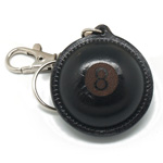 BN005 8 leather ball key ring, with sander