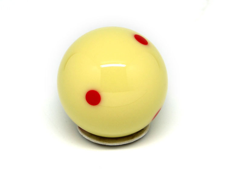 BB13 Premium Pool Cue Ball Red Dots